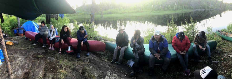 Discussion about the woodland caribou with participants